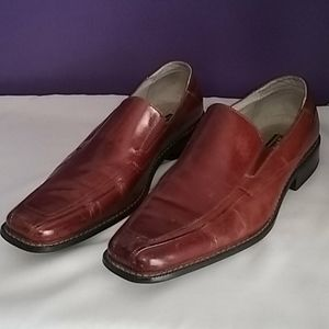 Leather slip-on dress shoes